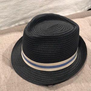 Crewcuts l/xl blue paper straw hat